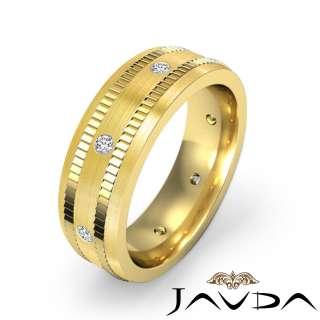 16Ct Round Diamond Men Eternity Wedding Band Gold Y14k