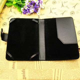 Black PU Leather Folio Case Cover Pouch For Ebook  Kindle Touch