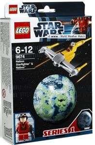 LEGO Star Wars NABOO STARFIGHTER & NABOO PILOT #9674 NEW 2012