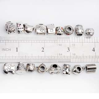 925 Sterling Silver Charms Pendants Big Hole Beads