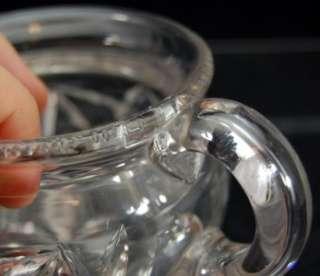 Antique Marked Hawkes Creamer Sugar Bowl ABP Cut Glass