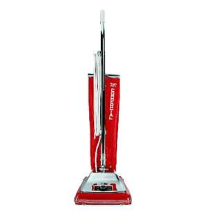SC886 Commercial Red Line Upright Bagged Vacuum Cleaner, Metal Top