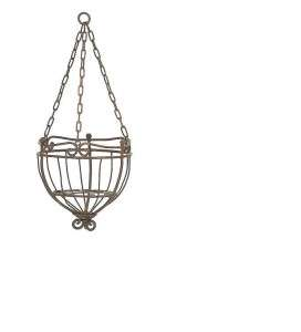 12 Iron Hanging Flower Basket Planter Baskets Planters Flowers Garden