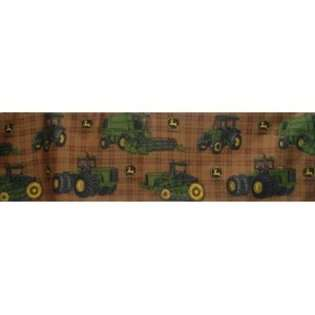 John Deere Bedding Traditional Tractor and Plaid Collection Bed Skirt