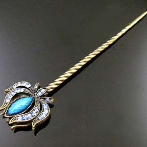 Item  1pc rhinestone crystal antiqued hair stick wedding