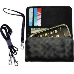 Black Purse Hand Bag Case for the Nokia Oro with both a