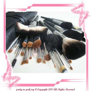28 Italian PUPA Professional cosmetics makeup set brushes with BLACK