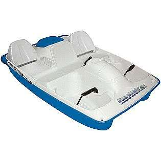 Boat Blue With Canopy  Water Wheeler Fitness & Sports Fishing Boats