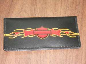 Harley Davidson Leather Check Book Cover