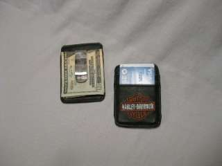 Harley Davidson Black Leather Money Clip Credit Cards Men Women
