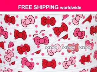 14 pcs Hello Kitty Polka Dot Bow ResinFlatback Cabochon 7100/21 6006