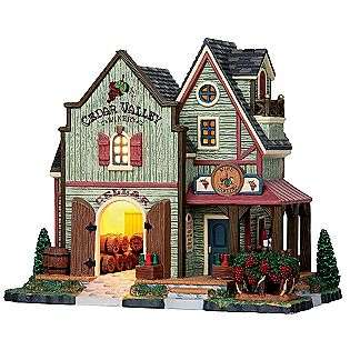 Christmas Village Porcelain Lighted House   Cedar Valley Winery  Lemax