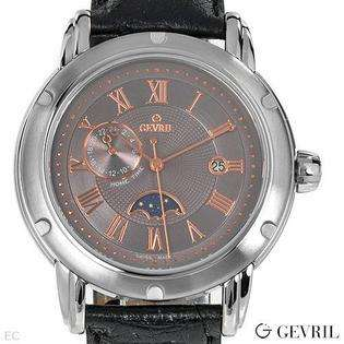 Hubert  Paris Mens Stainless Steel Case Dual Time Quartz Watch #3748 B
