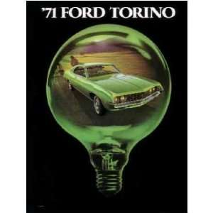1971 FORD TORINO Sales Brochure Literature Book Piece