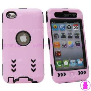 BLACK CASE + SILICONE FOR APPLE IPOD TOUCH GENERATION 4th 4g 4