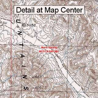 USGS Topographic Quadrangle Map   Horn Spring, California (Folded