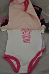 NWT NIKE AIR JORDAN INFANT 5 PACK BODYSUITS SET BABY GIRL SIZE 0/3