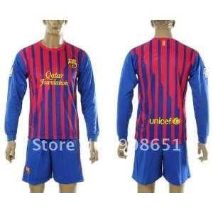 11 12 barcelona home long sleeve high quality football