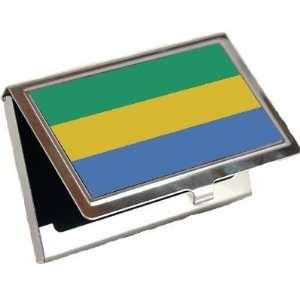 Gabon Flag Business Card Holder