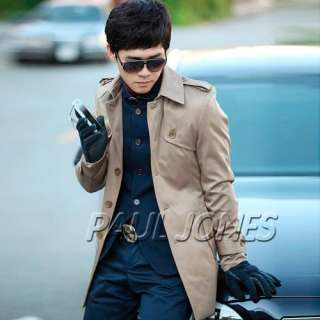 Fashion Korean Mens Slim Designed Coat Jackets 3colors