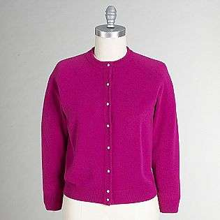 Womens Pearl Button Cardigan  Designers Originals Clothing Petite