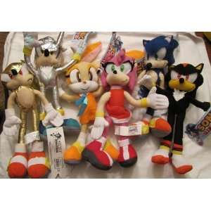 Sega Sonic 10 Plush Set of 6