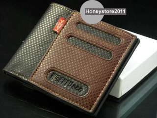 Mens Leather Wallet Pockets Card Clutch Cente Bifold Purse W89
