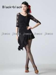 Woman latin ballroom dance dress top + skirt salsa chacha cocktail