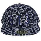 Ace Caps TAMPA 813 NAVY WHITE FLAT BILL FITTED CAP HAT X  LARGE