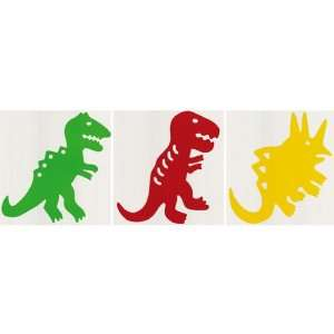 Red, and Green Large Dinosaurs Removable Wall Stickers