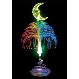 LED Fiber Optic Table Lamp/Night Light   Moon
