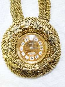 Waltham for Whiting & Davis 17 Jewel Watch Mesh Pendant Necklace