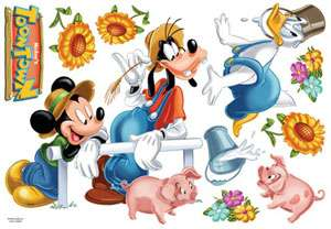 MICKEY MOUSE KIDS DECALS VINYL WALL DECOR STICKERS #65