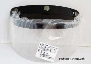 SNAP Motorcycle Helmet Visor Face Wind Shield Mask    Half Face