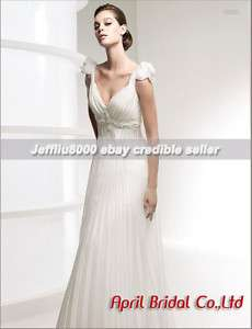 neckline Empire waist Bridal Gown/Wedding Dress Cheap