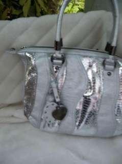 purse handbag SATCHEL pocketbook HOBO SILVER 182862 WAVE PATCHWORK NEW