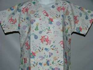 PARTY Gripper Top XL XLARGE Nursing Scrub NEW