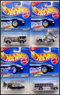 HOT WHEELS 1995 SILVER SERIES 4 CARS MOMC