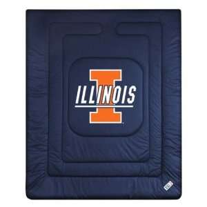 Illinois Fighting Illini Comforter Twin Sports & Outdoors