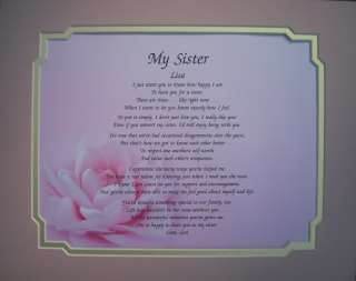 My Sister Personalized Poem