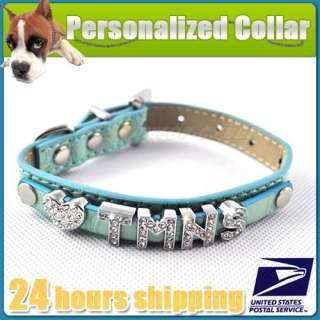 Croc Dog Cat Personalized PET NAME Collar,S M L   GIFT Charm And 5