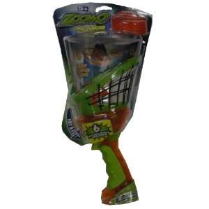 Zoom O Disc Launcher with Catch Net   Orange and Green: