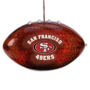 4 NFL San Francisco 49ers LED Light Up Football Christmas