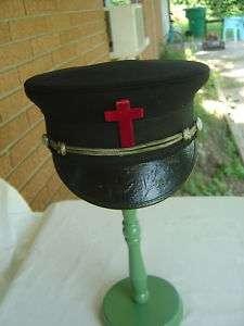 vtg VICTORIAN Masonic Mason Templar PARADE HAT