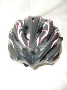 Giro Athlon Black/Red Flames Bicycle Helmet MEDIUM New