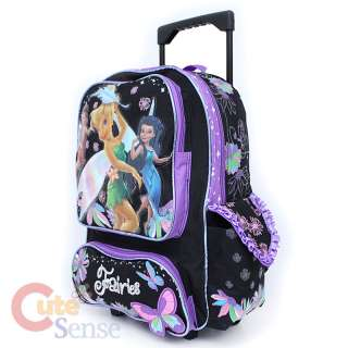Tinkerbell Fairies School Roller Backpack Rolling Bag Butterfly 2