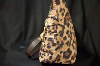NWT MICHAEL KORS JET SET EAST WEST LARGE TOTE CHAIN ITEM LEOPARD BROWN