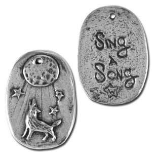 22mm Green Girl Sing a Song Pewter Charms Arts, Crafts & Sewing