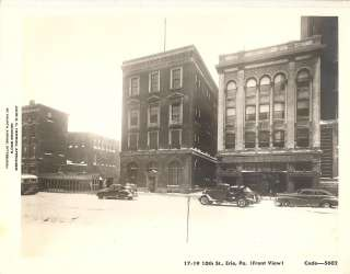 1940s PHOTO ERIE PA 10TH ST BUILDINGS PA ELECTRIC & OTHERS