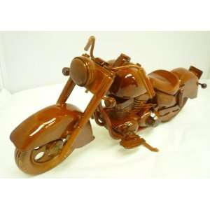Mahogany Wooden Display Model Indian Motorcycle Replica